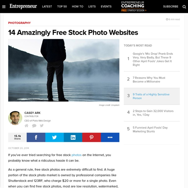 14 Amazingly Free Stock Photo Websites