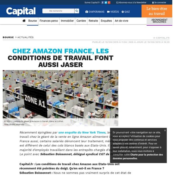 Chez Amazon France, les conditions de travail font aussi jaser