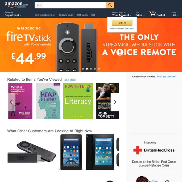 Amazon.co.uk: Low Prices in Electronics, Books, Sports Equipment & more