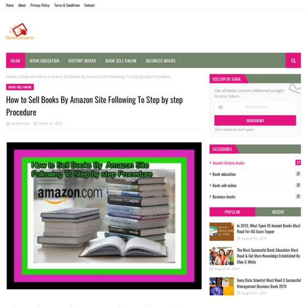 How to Sell Books By Amazon Site Following To Step by step Procedure