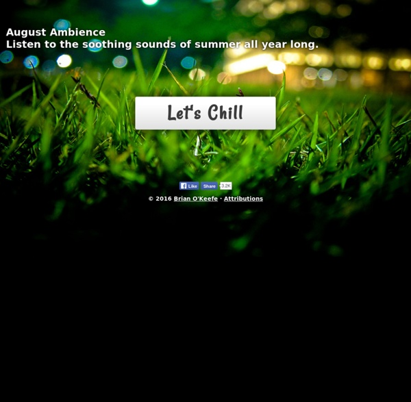August Ambience - relaxing ambient nighttime summer cricket sounds