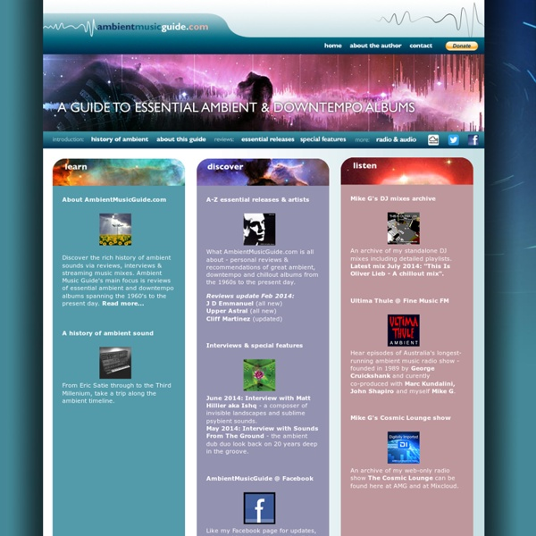 Ambient Music Guide.com