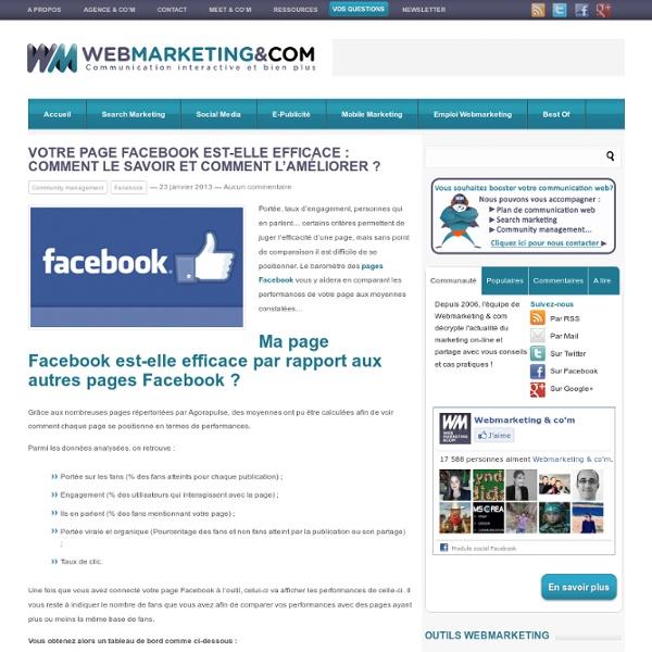 Votre page Facebook est-elle efficace : Comment le savoir et comment l'améliorer ?