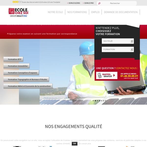 Formation à distance BTP / Immobilier / Aménagement / Topographie / Construction