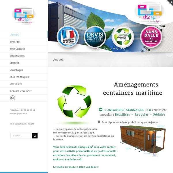 Aménagement container, studio jardin, container aménagé