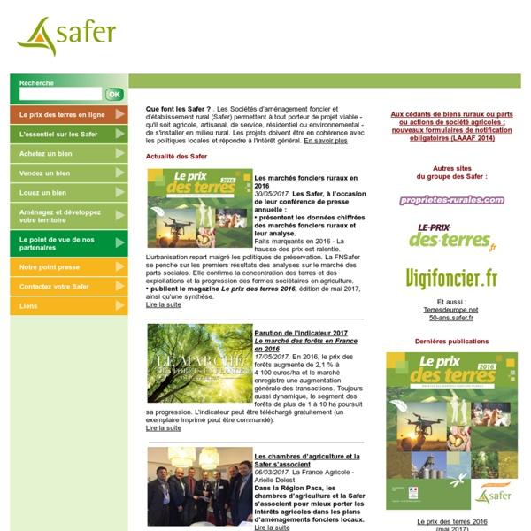 Safer.fr : Sociétés d'aménagement foncier et d'établissement rural