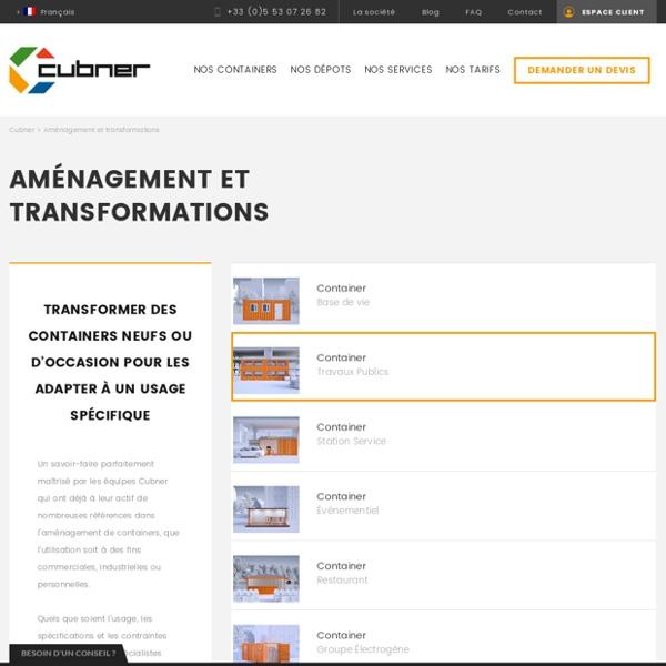 Aménagement et transformation de conteneur maritime -Cubner