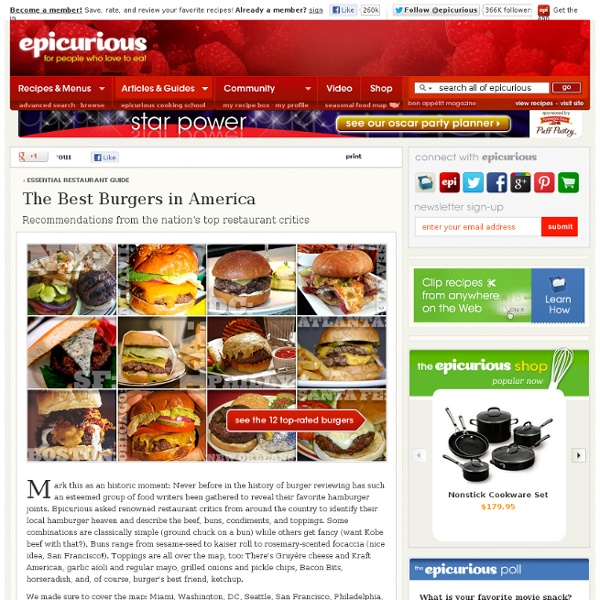 America's Top-Rated Burgers at Epicurious.com
