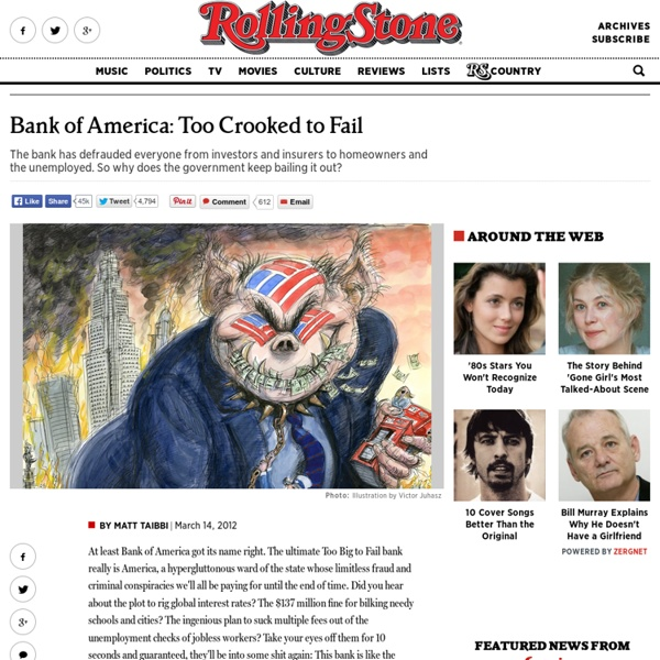 Bank of America: Too Crooked to Fail