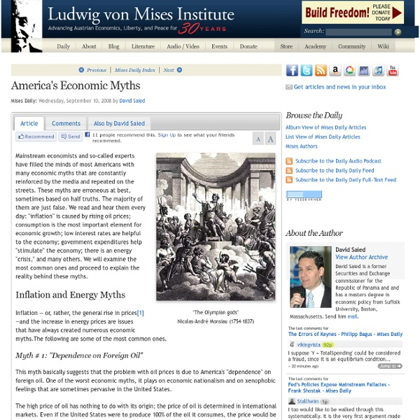 America's Economic Myths - David Saied