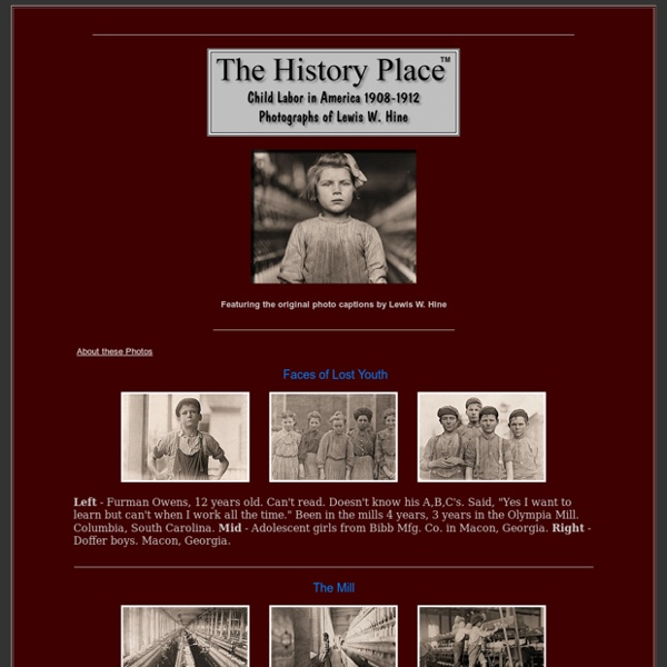Child Labor in America: Investigative Photos of Lewis Hine