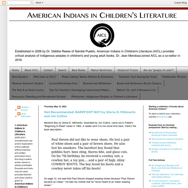 American Indians in Children's Literature (AICL)