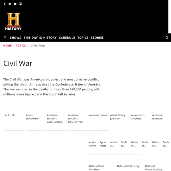 American Civil War — History.com Articles, Video, Pictures and Facts