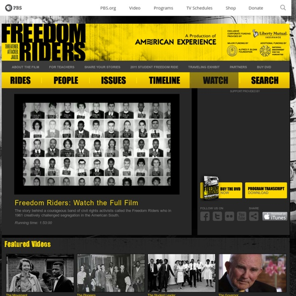 WGBH American Experience . Freedom Riders . Watch