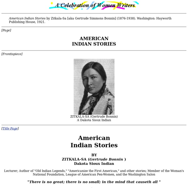 American Indian Stories.