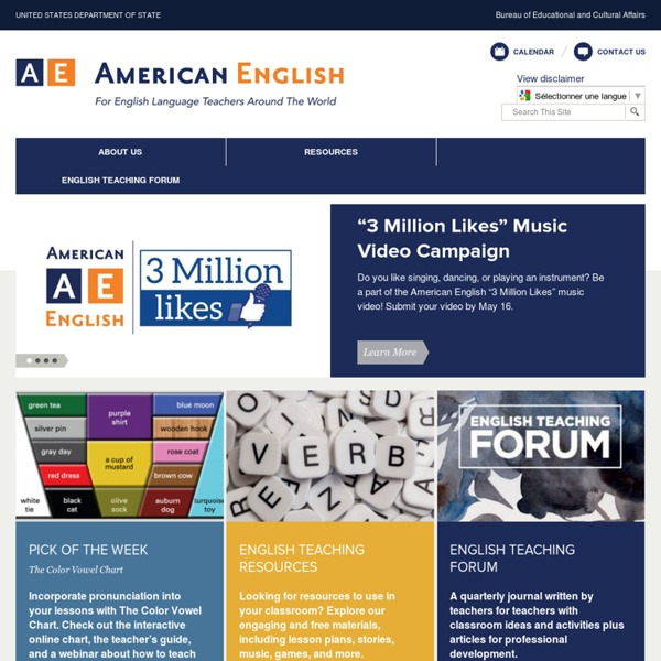 A Website for Teachers and Learners of English As a Foreign Language Abroad