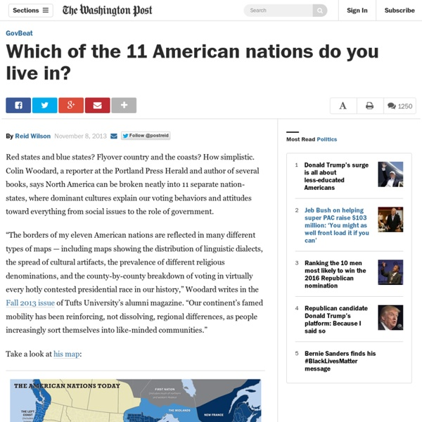 Which of the 11 American nations do you live in?