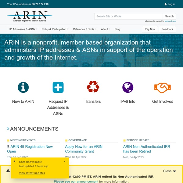 American Registry for Internet Numbers (ARIN)