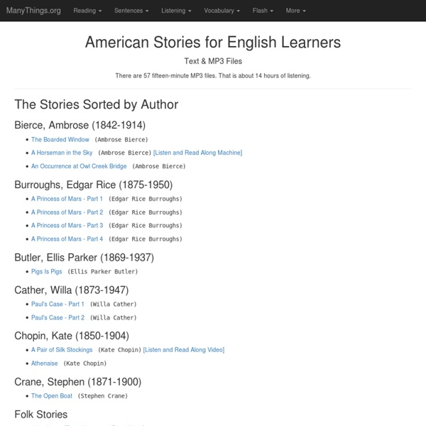 American Stories in Easy English / American Stories in VOA
