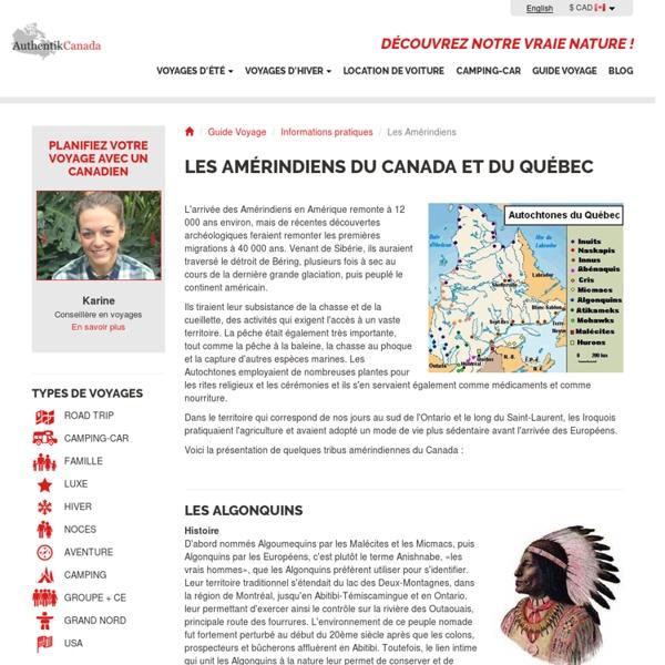 Les Amérindiens du Canada et du Québec