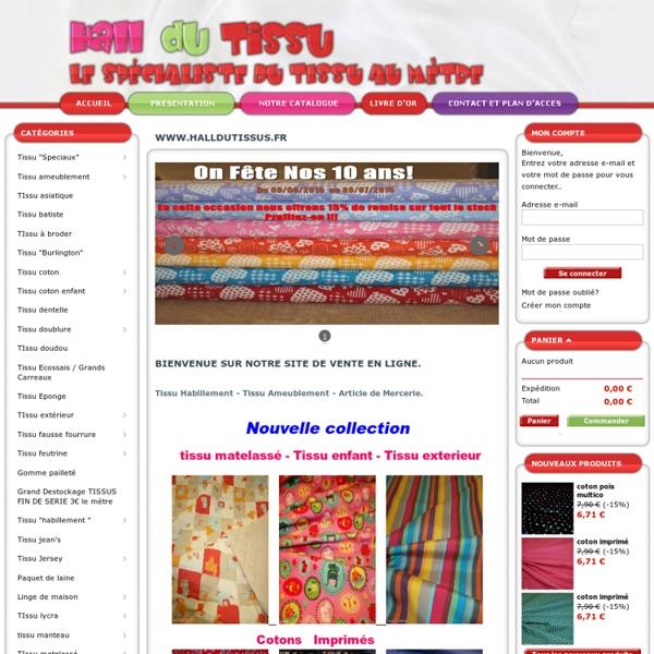 Vente tissu d'ameublement, magasin tissus décoration, détaillant ardèche - Hall du tissus