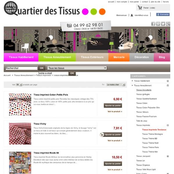 Tissus Imprim?s Tendance - www.quartierdestissus.com