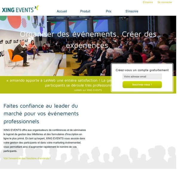 L'organisation d'événements - amiando.com