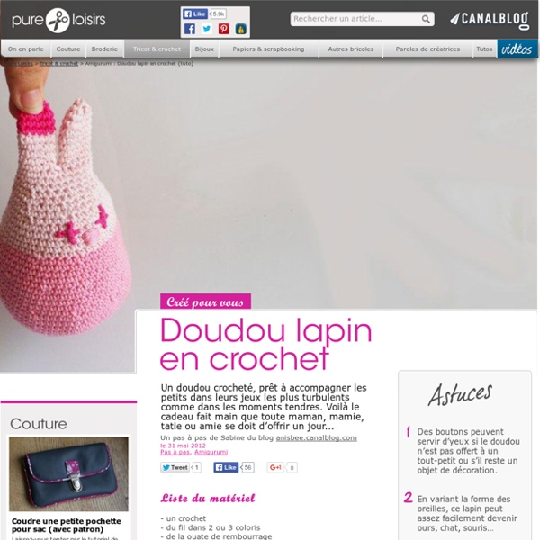 Amigurumi : Doudou lapin en crochet {tuto}