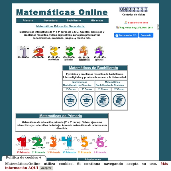 Matematicas con amolasmates
