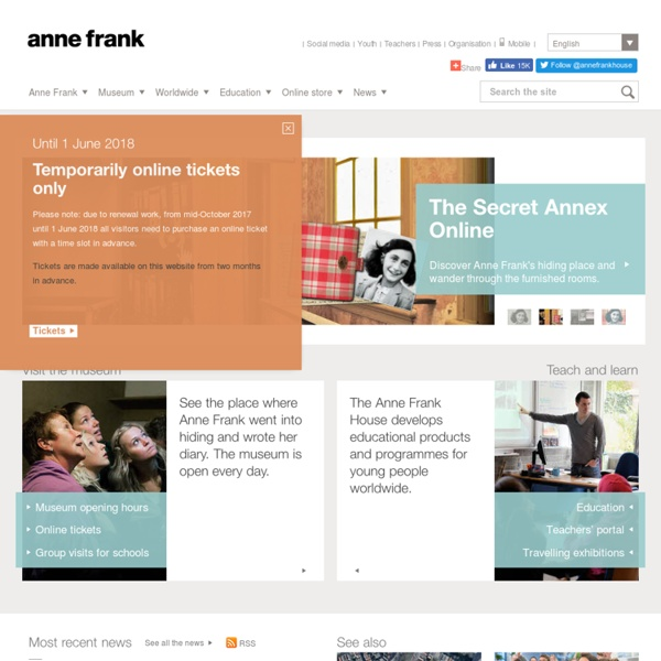 Anne Frank Museum Amsterdam - the official Anne Frank House website