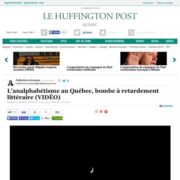 L'analphabétisme au Québec, bombe à retardement littéraire