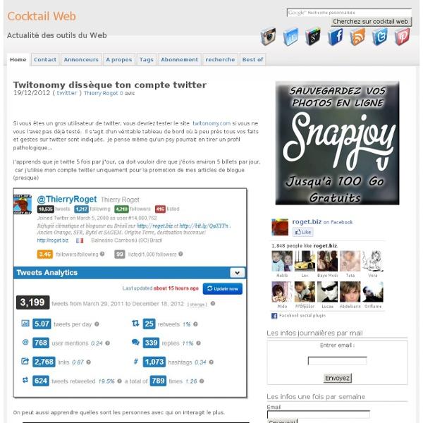 Analyse d'un compte twitter