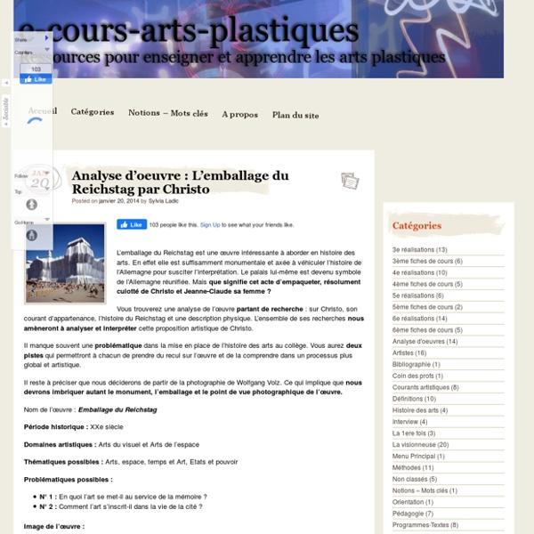Analyse d'oeuvre : L'emballage du Reichstag par Christo