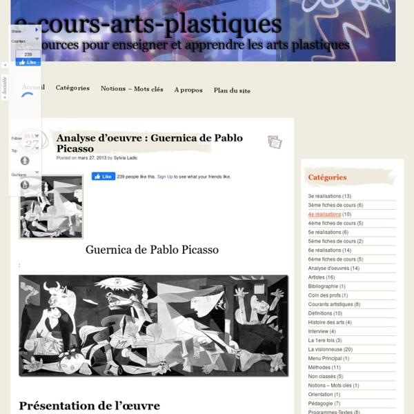Analyse d'oeuvre : Guernica de Pablo Picasso