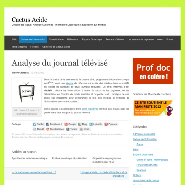 Analyse du journal télévisé