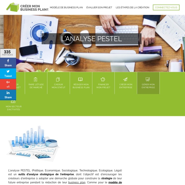 Les outils d'analyse stratégique de l'entreprise : l'analyse PESTEL