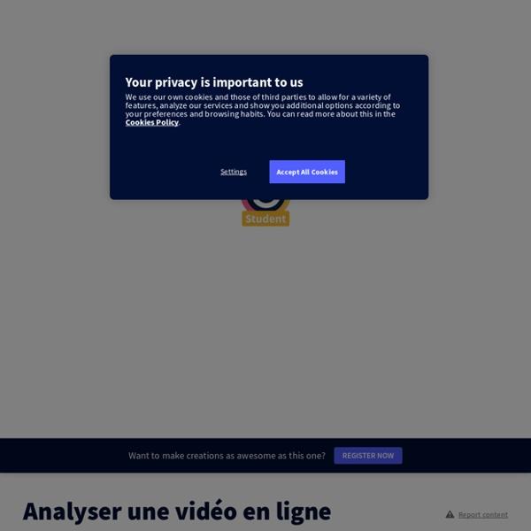 Analyser une vidéo en ligne by Florian Cool on Genially