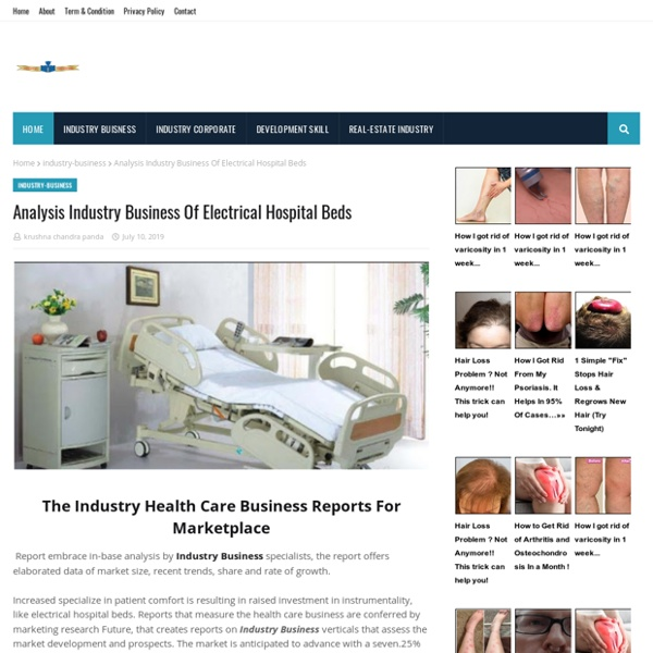 Analysis Industry Business Of Electrical Hospital Beds