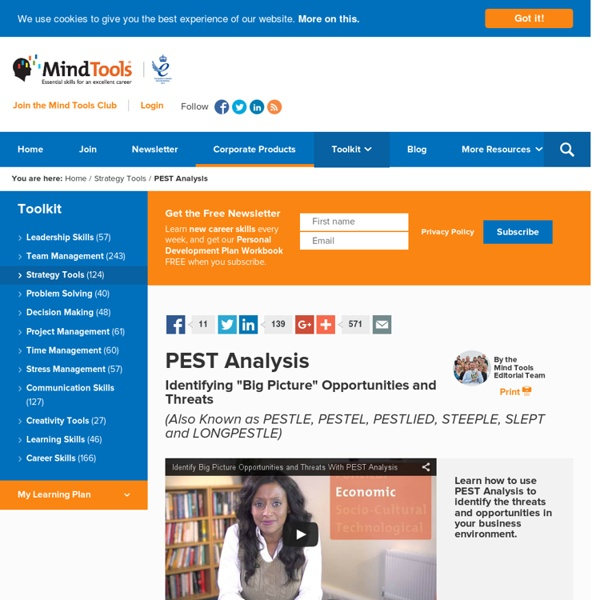 PEST Analysis - Problem-Solving Training from MindTools