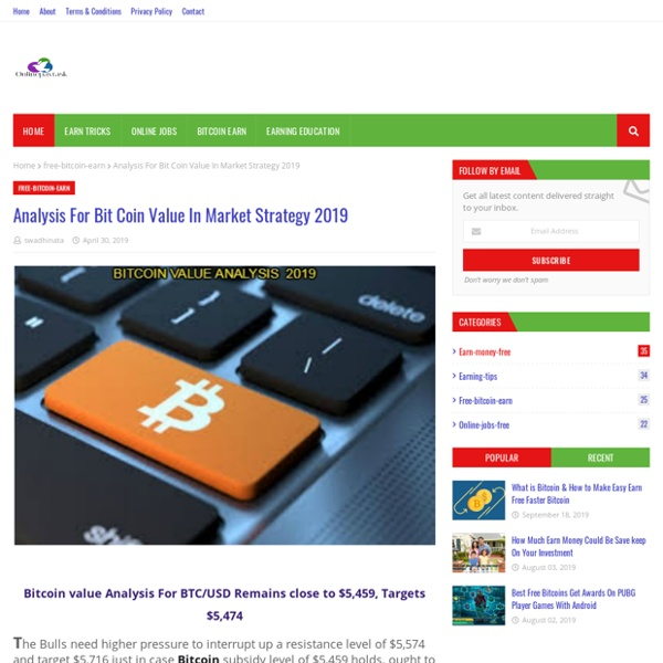Analysis For Bit Coin Value In Market Strategy 2019