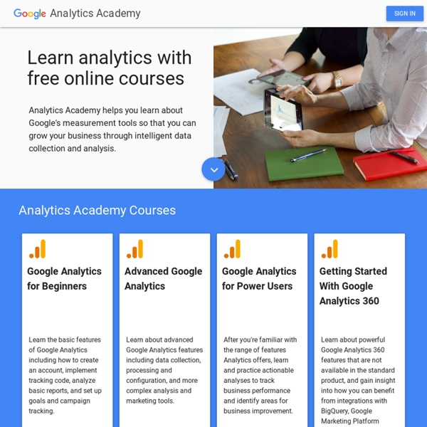 Digital Analytics Fundamentals - Analytics Academy Courses