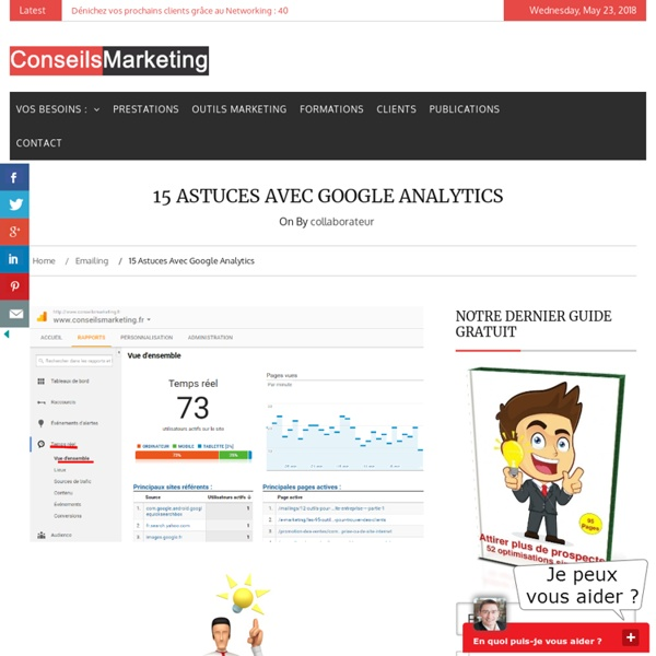 13 astuces avec Google Analytics