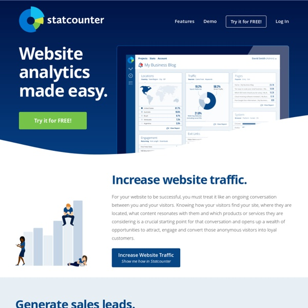 StatCounter - Free Invisible Web Tracker, Hit Counter and Web Stats