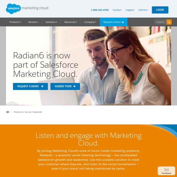 Social Media Monitoring and Engagement, Social CRM - Radian6.com