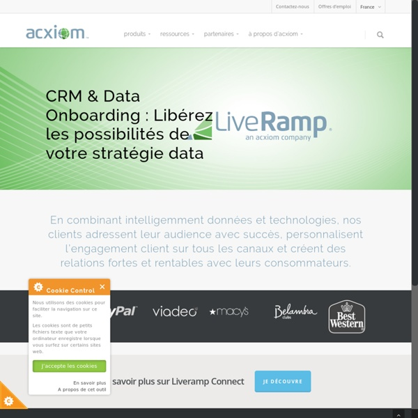 Expert de la donnée, de l'analytique et des Marketing Services - Acxiom