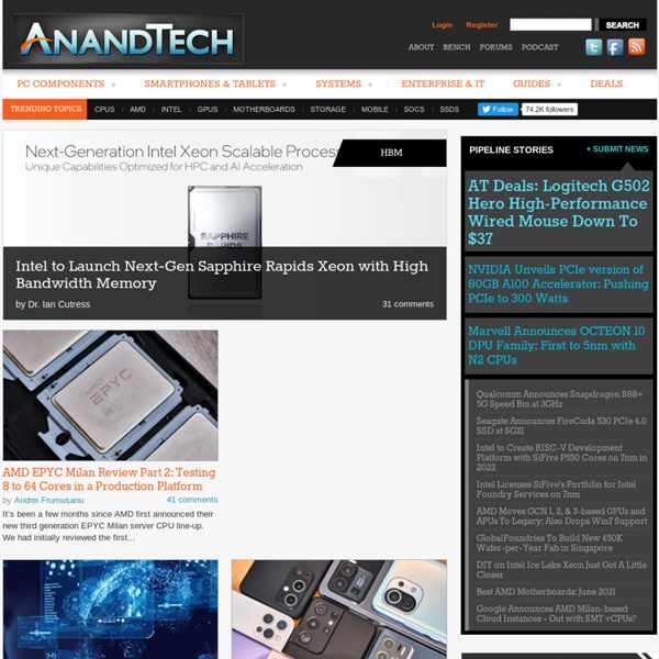 AnandTech: Hardware News and Tech Reviews Since 1997