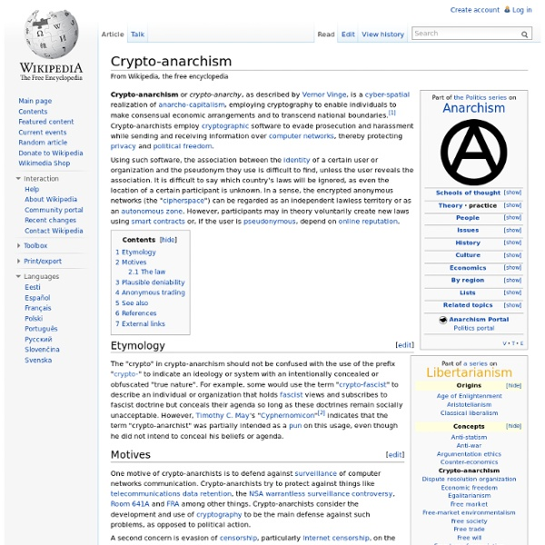 Crypto-anarchism