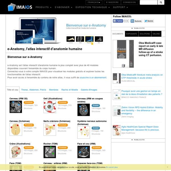 E-Anatomy : Atlas d'anatomie humaine