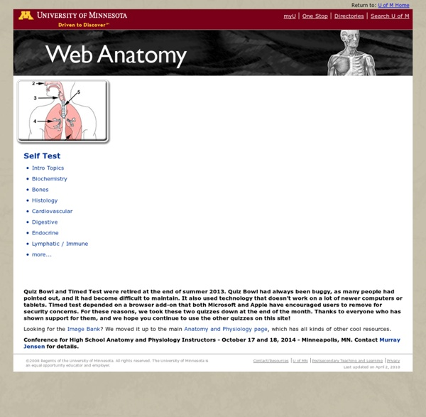 Anatomy and Physiology Learning Modules - CEHD - U of M