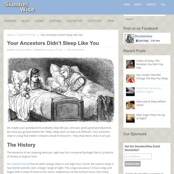 Your Ancestors Didn't Sleep Like You - SlumberWise